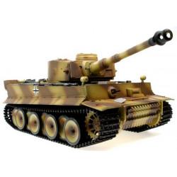 Taigen 1/16eme Tiger I RC Char avec Fumee et Bruit 2.4GHZ (TG3818-1)