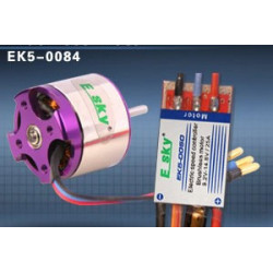Brushless motor  (prepositive) 45g 1000KV + speed controller25A for 3D airplane (old EK5-0084)