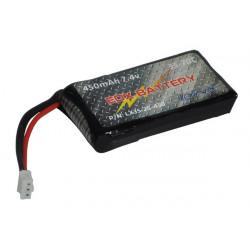 EOX 130X Ultra Lipo Battery Pack 2S - 450mAh (LX35-2S-450)
