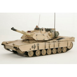 Hobby Engine Char/ Tank  M1A2 Abrams 1/16 Battle Tank 27Mhz Desert - Yellow