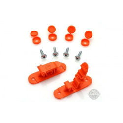Random Heli Attache rapide de transport/Skid Clamp Assembly 8.0mm Orange (STC8000-O)