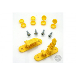 Random Heli Attache rapide de transport/Skid Clamp Assembly 9.0mm Yellow (STC9000-Y)