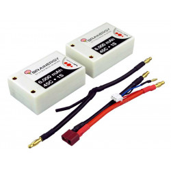 Batterie LiPo 2s1p 7,4V 6.000mAh 45C BRAINERGY contact PK 4,0mm SP (801002)