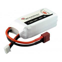 Batterie LiPo 3s1p 11,1V 1.350mAh 45C BRAINERGY compatible avec Deans T-Plug (801030)