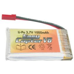 LIPO 3,7V 1000mAh - EASYCOPTER V6 /V6 LUXE/ XS METAL/ WOLF - Lipo 3.7V (RC3475)