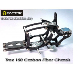 Heli Factor Trex 150 Carbon and 7075 Alloy Chassis - Silver