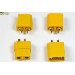 Connecteur XT-60 OR Mâle + Femelle (2 paires) (14160)
