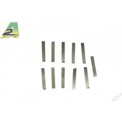 Lamelles nickelées 3 mm x 21 (10p) (15033)