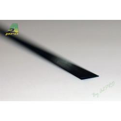 Profilé carbone plat 3.0/1.0mm - 1m (212015)