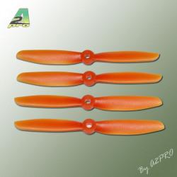 Hélice PTK (2 paires CW+ CCW) 5x4.5 orange (PO5045)