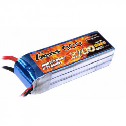 Gens ace 2700mAh 11.1V 25C 3S1P Lipo Batterie Pack with XT60 Plug DJI Phantom (B-25C-2700-3S1P)