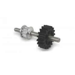 B400 -Axe Poulie Aluminium +Engrenages Assemblés pr Anti Couple (EFLH1455A)