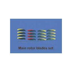 Main rotor blades set