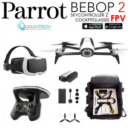 Pack FPV Bebop 2 Drone + Cockpitglasses + Skycontroller V2 + Sac de transport
