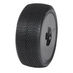 PNEUS RAZOR M2 MEDIUM RACING + JANTES REX 1/8 BUGGY NOIRE - Jantes et pneus (MP-6445-M2)