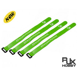 RJX Anti Glissement en silicone Velcro Battery Straps Green (300X20mmx4pcs)