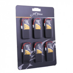 TATTU 350mAh 3.7V 30C 1S1P Lipo Battery Pack with Molex Plug (6 pcs/pack) (TA-30C-350-1S1P-Molex-6)