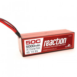Reaction 14.8V 5000mAh 4S 50C LiPo, Hardcase: EC5 (DYNB3804EC)