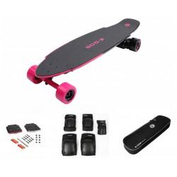 EGO2 Hot Pink E-Skateboard EU + EGO Eclairage à LED +EGO2 Paire de genouillères + EGO2 Board-Tasche