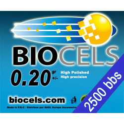 Biocels - BIO-Degradable 0.20g white bag of 2500 bbs
