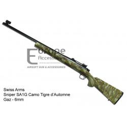 Swiss Arms - Sniper SA1G Camo Tigre Automne - Gaz - 6 mm