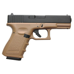 KJWORKS - G23 - GBB GAZ - Culasse ABS - TAN - 0.9J - 6mm