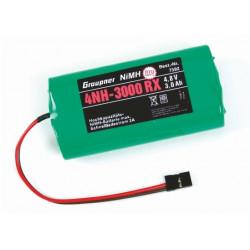 Accu recepteur 4NH-3000 RC 4.8V RTU connecteur JR (7592)