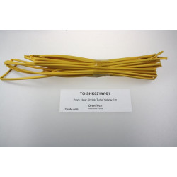 2mm Heat Shrink Tube Yellow 1m