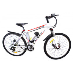 Z6 21-Speed Ultimate Edition Electric Mountain Bike 26 - White