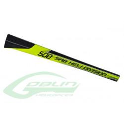 Carbon Fiber Tail Boom Yellow/Black (H0278-S) SAB GOBLIN 500