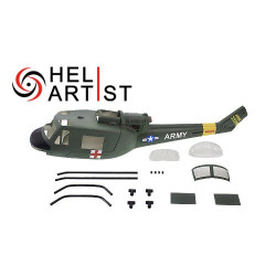Heliartist H1 Huey Fiber Glass Fuselage class 450