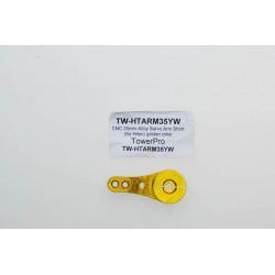 CNC 35mm Alloy Servo Arm Short (for Hitec) golden color