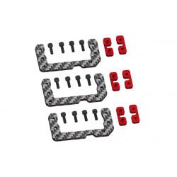 GOBLIN 500 upgrade - Cyclic Standard Size Servo Support - Red Devil Edition (LX0498)