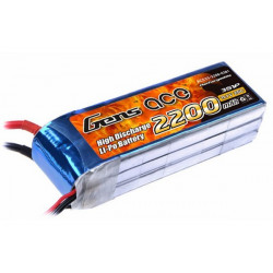 Gens ace 2200mAh 11.1V 25C 3S1P Lipo Battery Pack (B-25C-2200-3S1P)