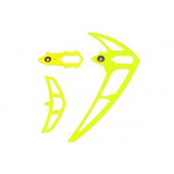 Fin set neon yellow, LOGO 600 (04648)